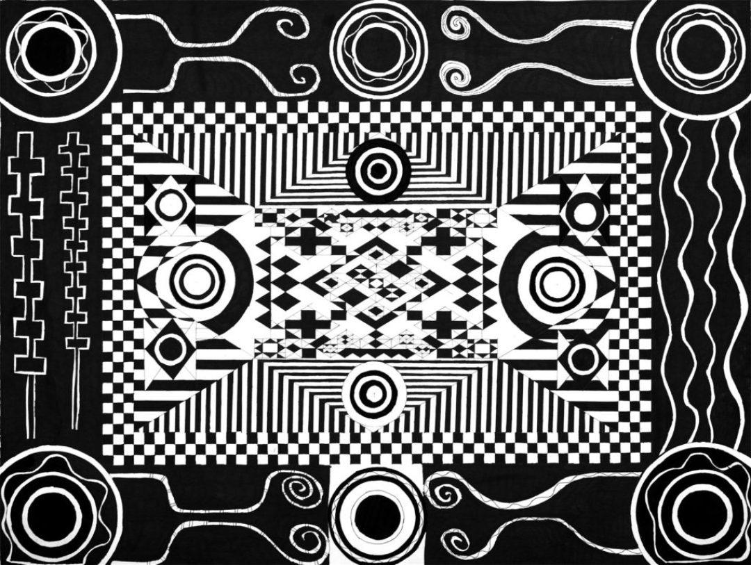 Daniel Douffet, sans titre, 2000, marqueur noir sur papier, 55 x 73 cm