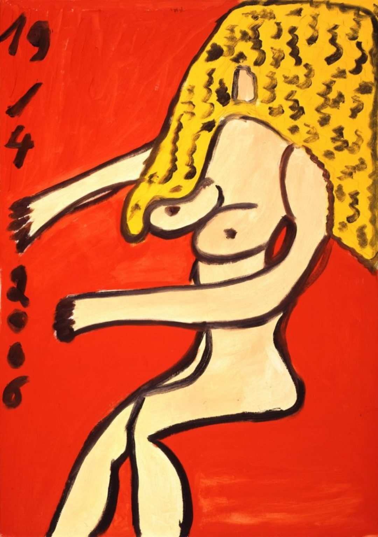 Hugues Joly, sans titre, 2006, peinture à l'huile sur toile, 100 x 70 cm