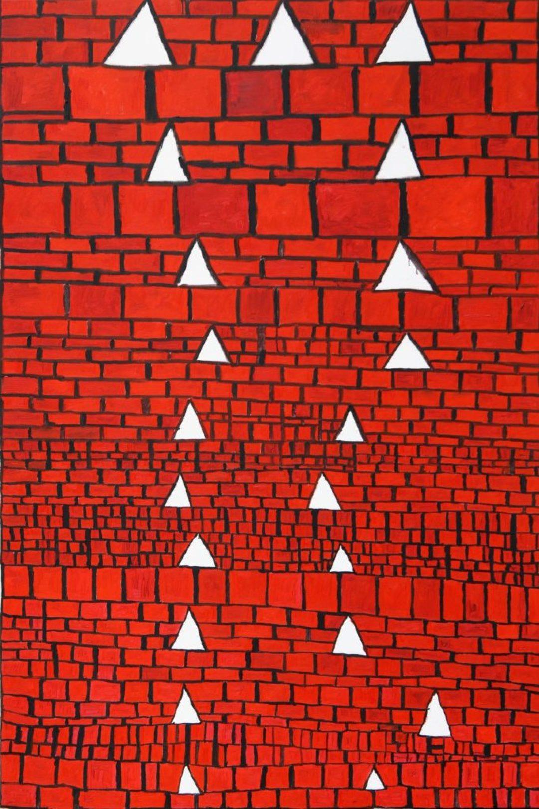 Louis Van Baelens, sans titre, 2005, peinture à l'huile sur toile, 150 x 100cm