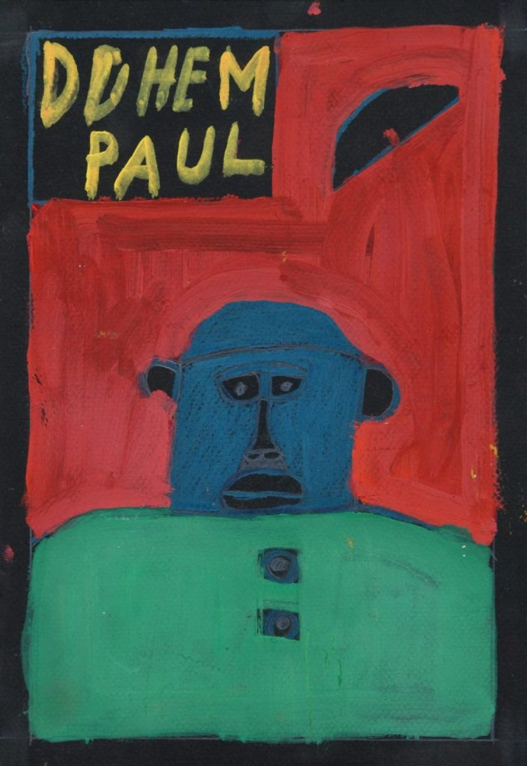 Paul Duhem, sans titre, 1996, pastel gras et peinture à l'huile sur papier, 36,5 x 26,5 cm