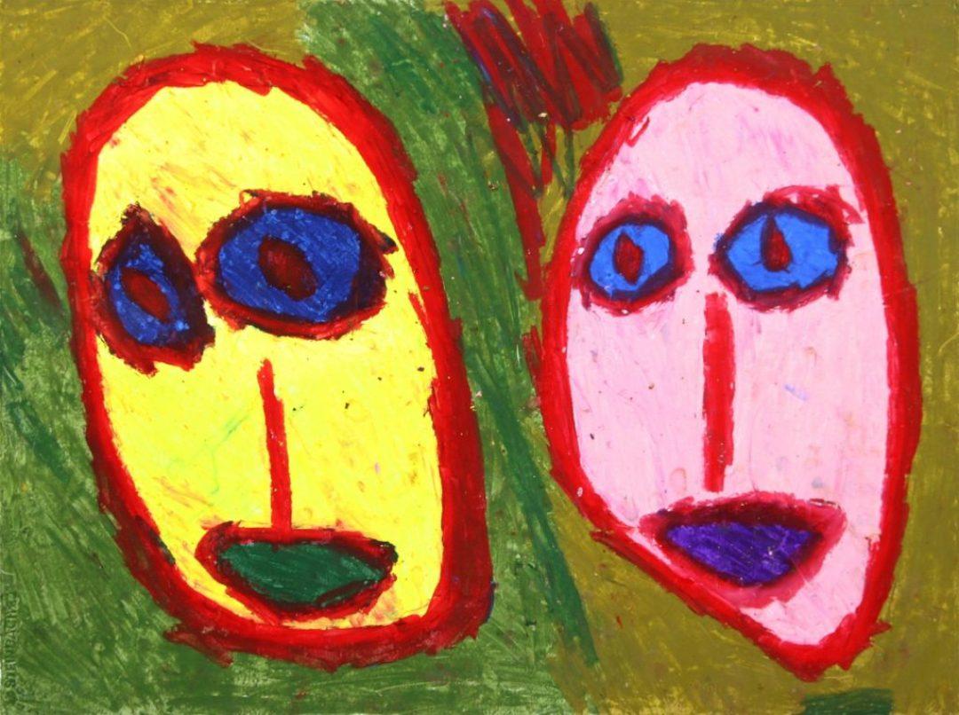 Gérard Wargnier, sans titre, 2001, pastel à l'huile sur papier, 55 x 73 cm
