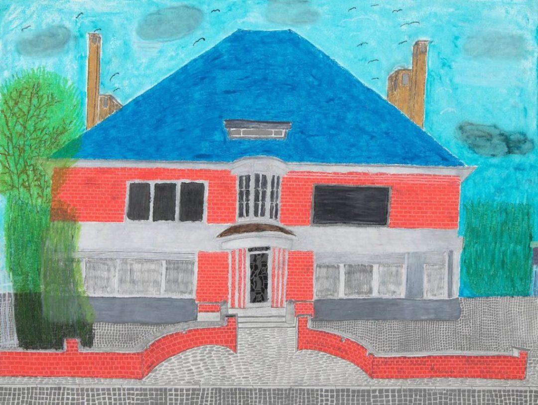 Maurice Brunswick, Sans titre, 2007, crayon de couleur sur papier, 55 x 73 cm_1