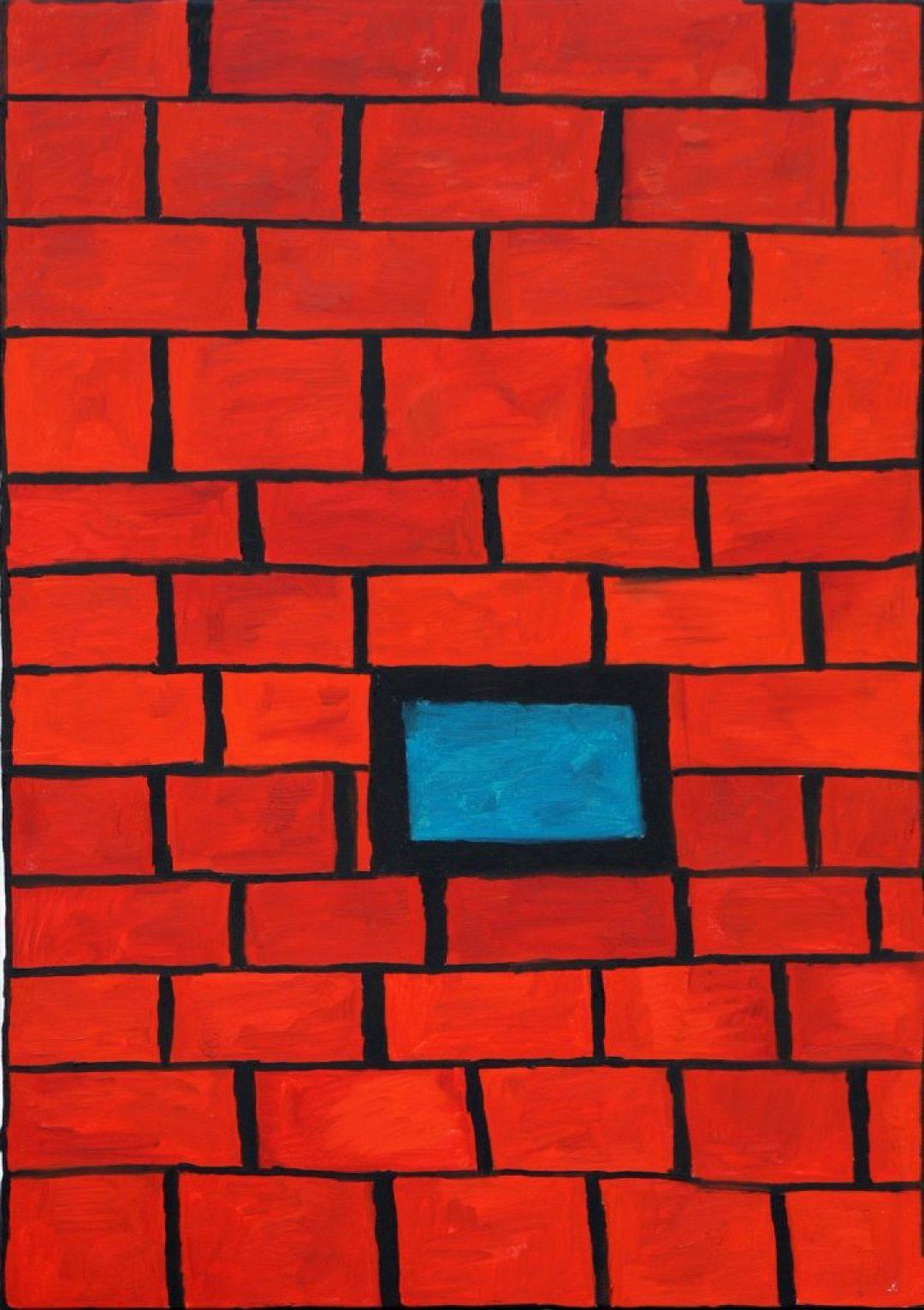 Louis Van Baelens, sans titre, 2003, peinture à l'huile sur toile, 100 x 70cm