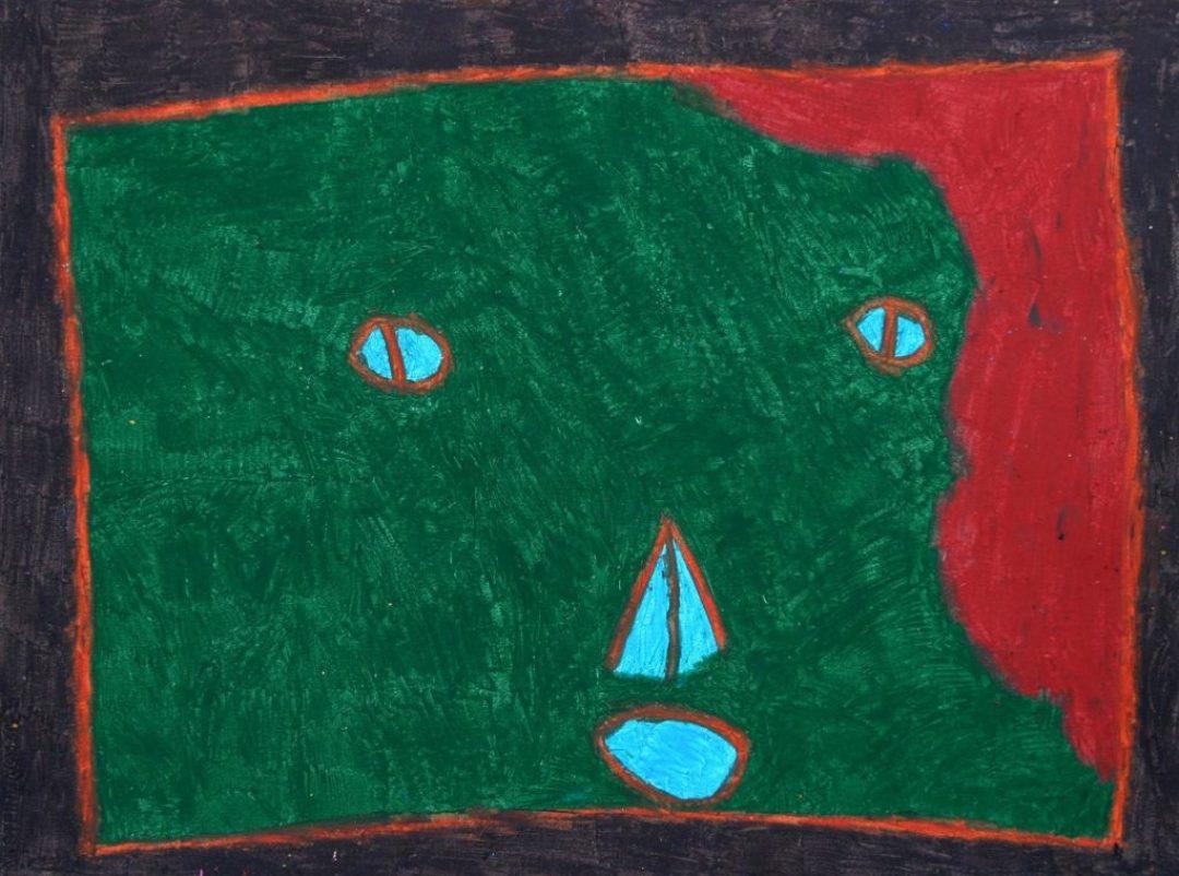 Gérard Wargnier, sans titre, 2000, pastel à l'huile sur papier, 55 x 73 cm