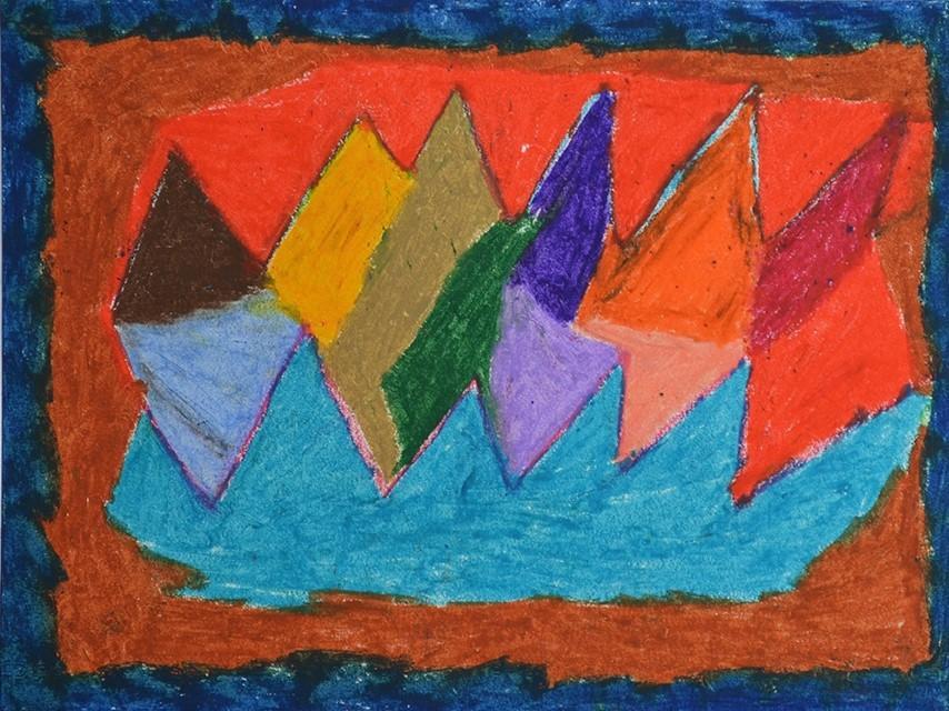 Chantal Gontarczyk, sans titre, nd (ca 2000), pastel à l'huile sur papier, 30 x 40 cm