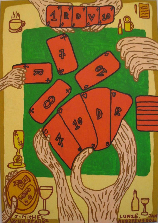 Jean-Michel Wuilbeaux, Sans titre, 2004, huile sur toile, 100 x 70 cm