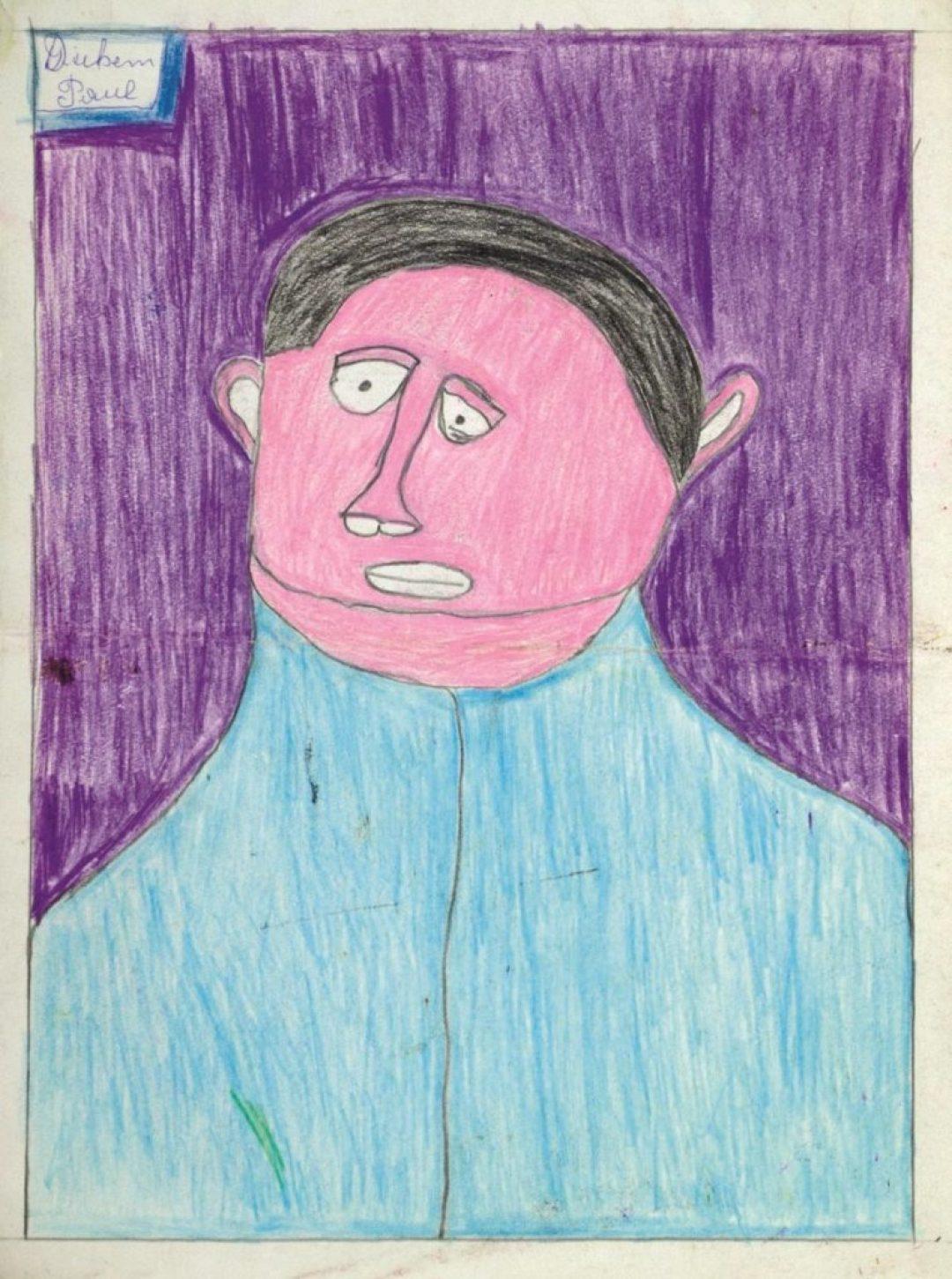 Paul Duhem, sans titre, 1991, crayons de couleur sur papier, 36,5 x 27,5 cm