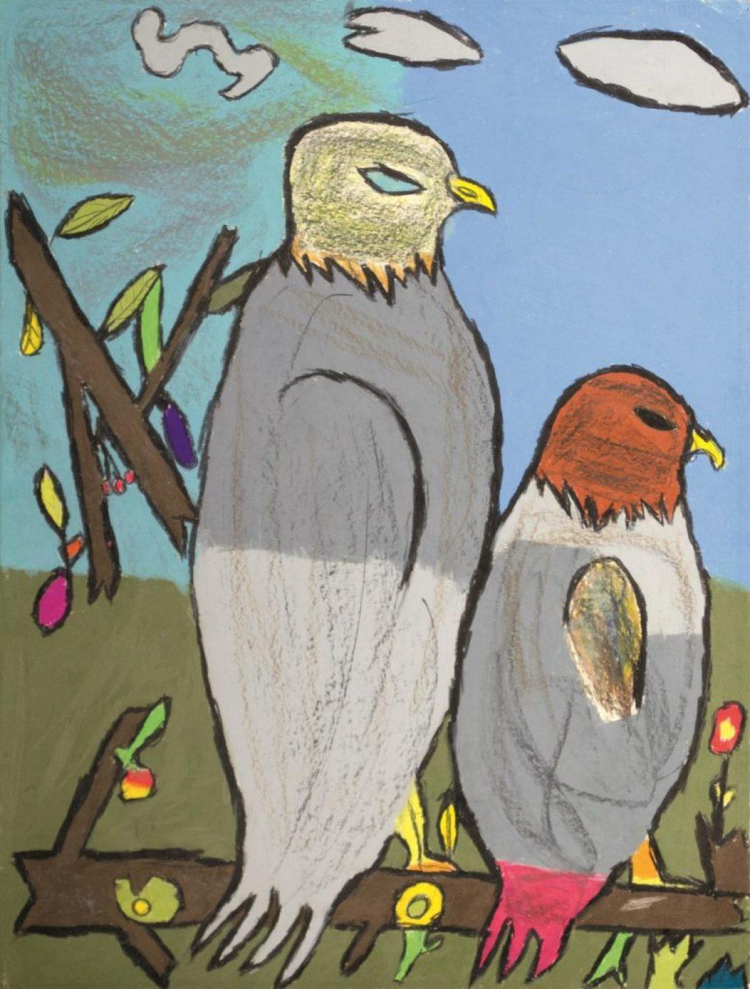 Jean-Jacques Bonnier, Sans titre, 1997, pastel gras sur papier, 73 x 55 cm(2)_1