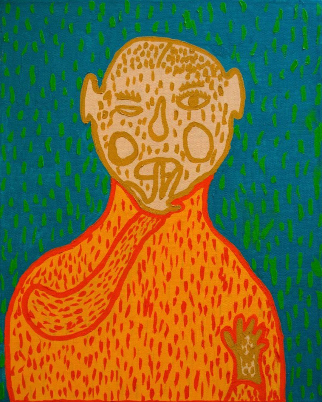 .Jean-Michel Wuilbeaux, Sans titre, nd, huile sur toile, 50 x 40 cm