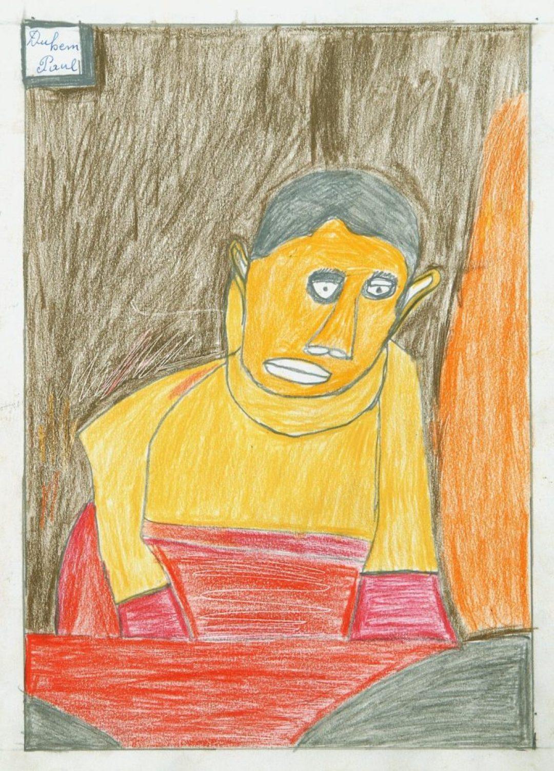 Paul Duhem, sans titre, 1991, crayons de couleur sur papier, 36,5 x 26,5 cm
