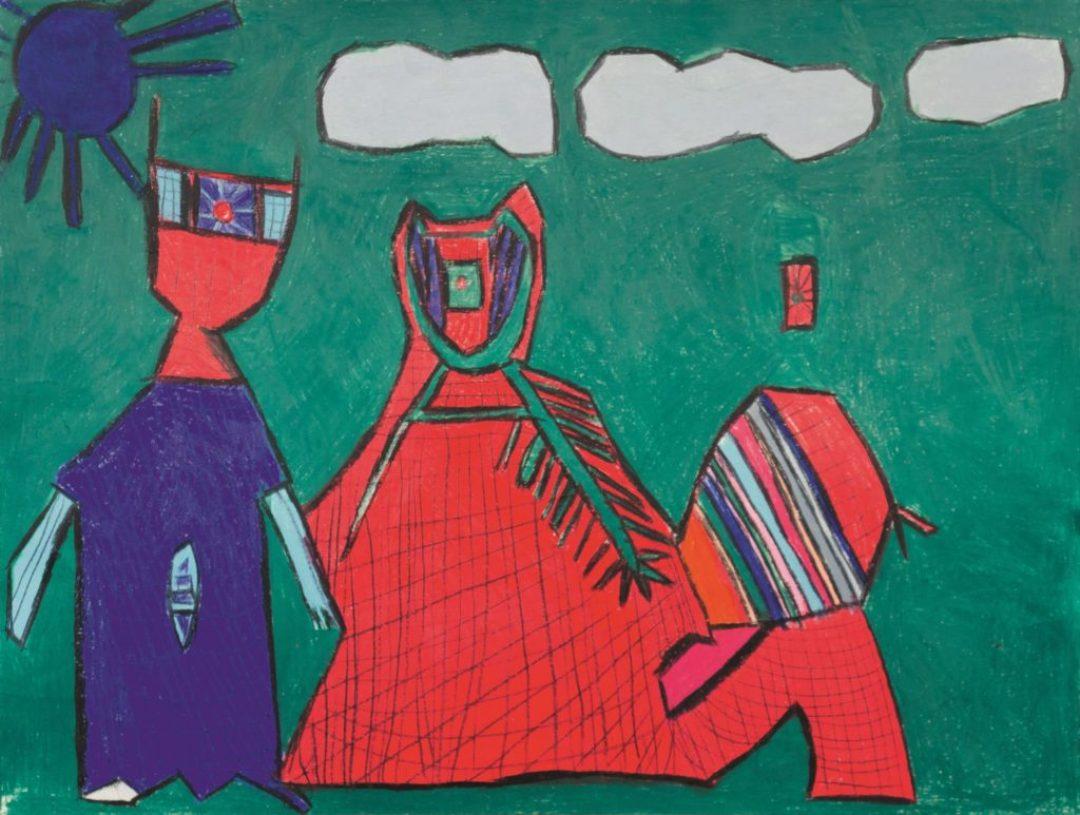 Danièle Caron, Sans titre, 2014, pastel gras sur papier, 55 x 73 cm_1
