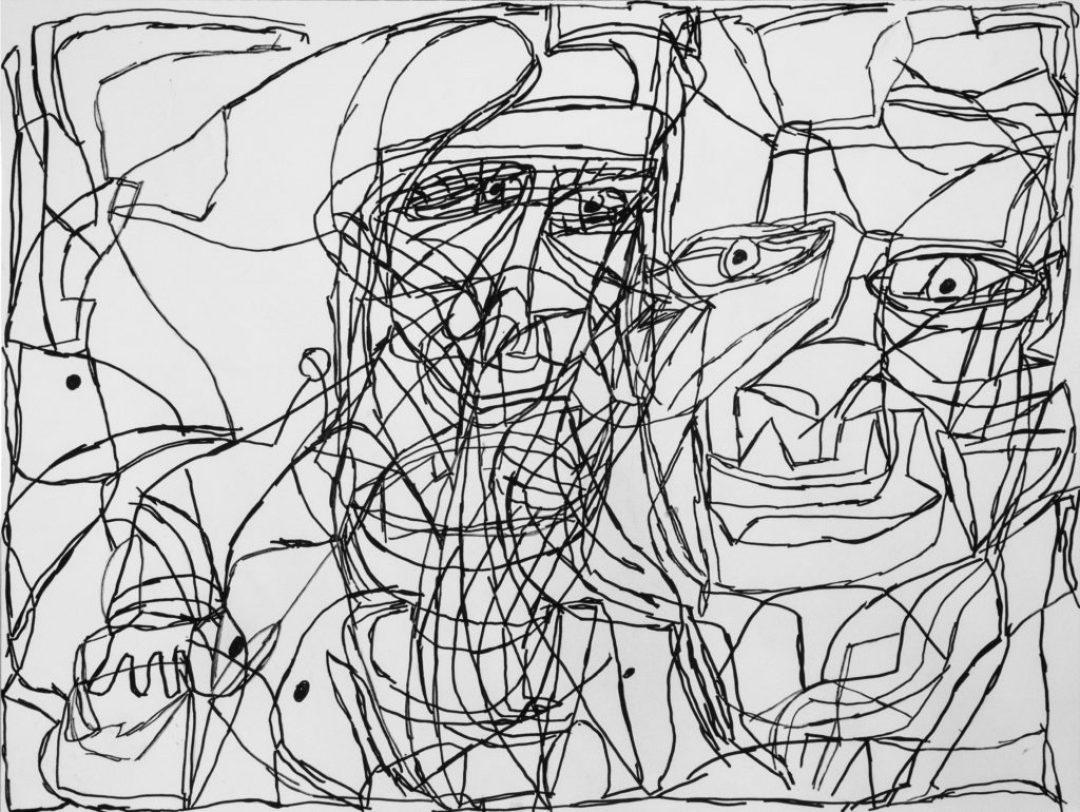 Isabelle Laure, Sans titre, 2014, marqueur acrylique sur papier, 55 x 73 cm