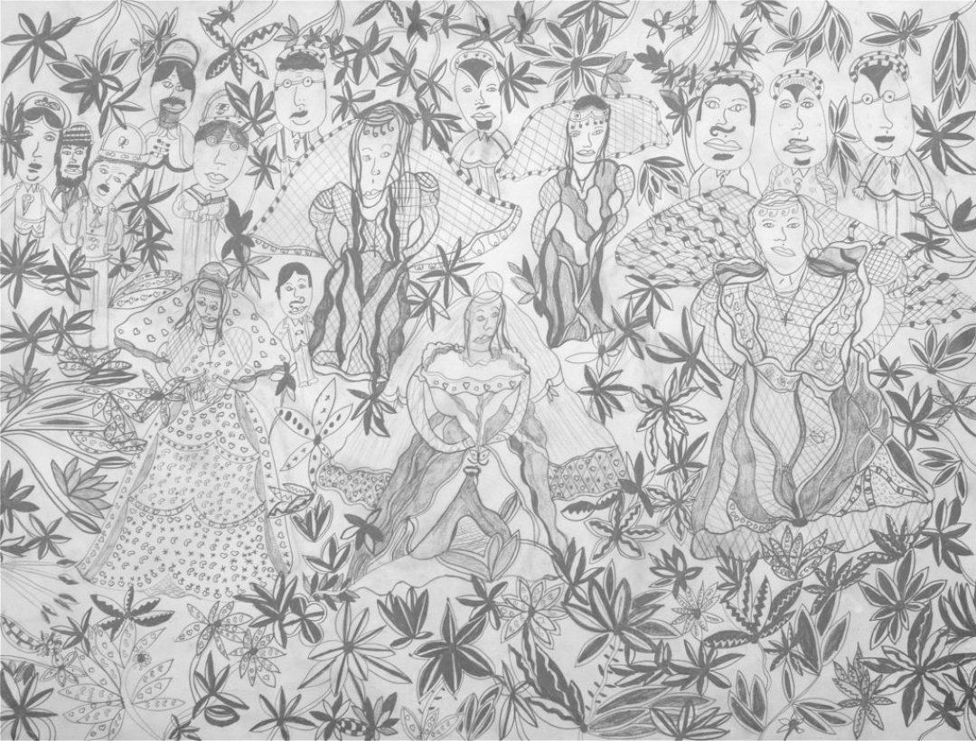 Christelle Hawkaluk, sans titre, 2007, crayon gris sur papier, 55 x 73 cm