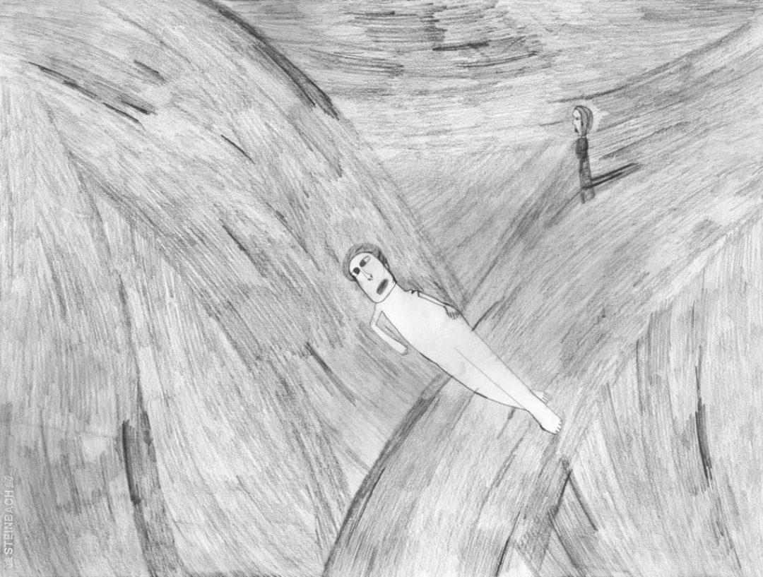 Alexis Lippstreu, Sans titre, 2007, crayons gris sur papier, 55 x 73 cm