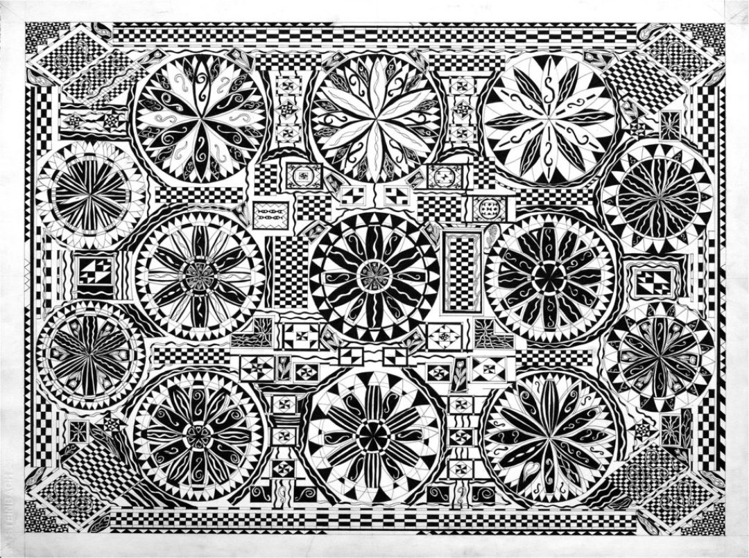 Daniel Douffet, sans titre, 2006, marqueur noir sur papier, 55 x 73 cm