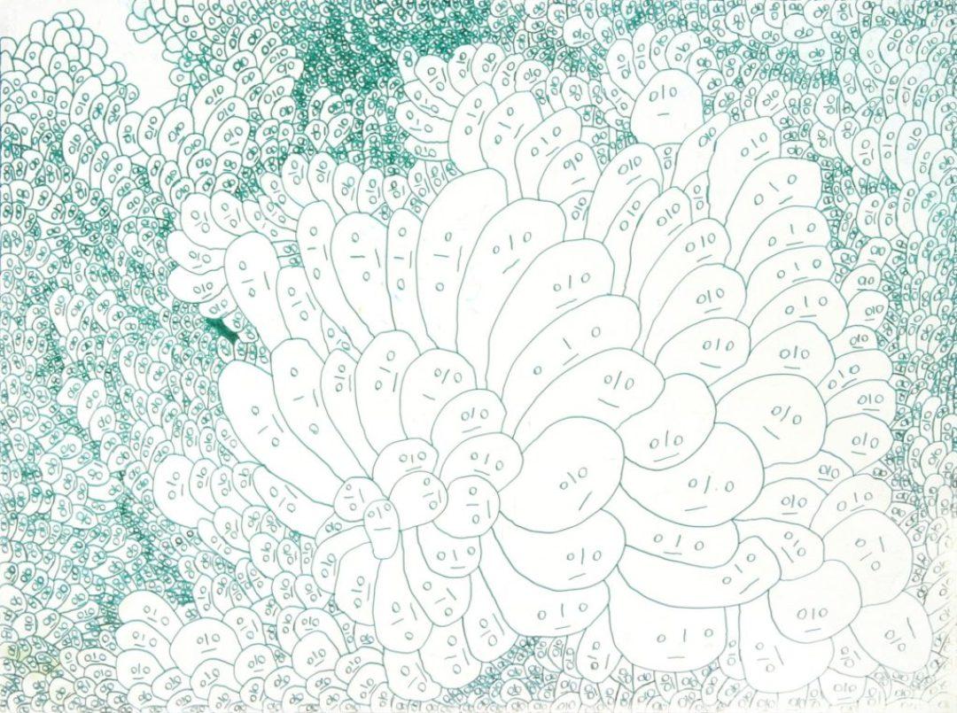 Jean-Pascal Pécheux, sans titre, 2005, marqueur sur papier, 55 x 73 cm