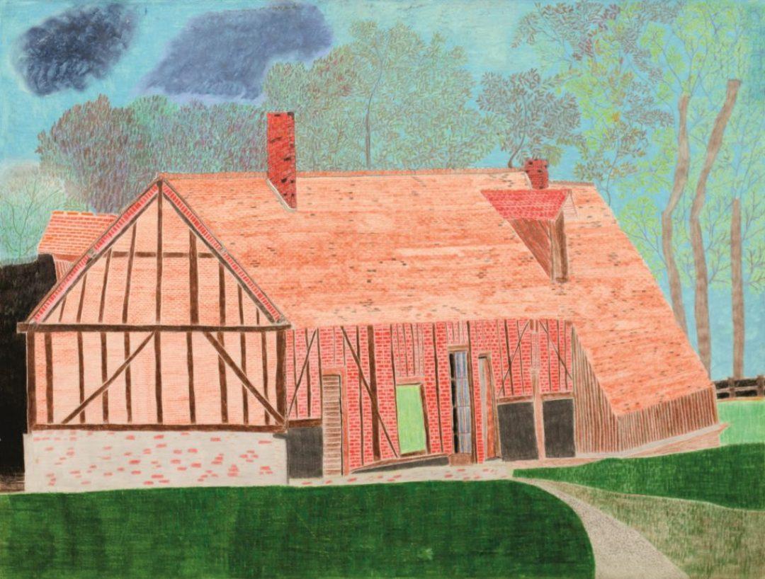 Maurice Brunswick, Sans titre, 2012, crayon de couleur sur papier, 55 x 73 cm_1