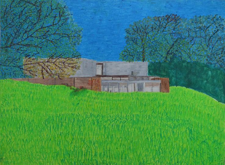 Maurice Brunswick, Sans titre, nd, crayon de couleur sur papier, 55 x 73 cm