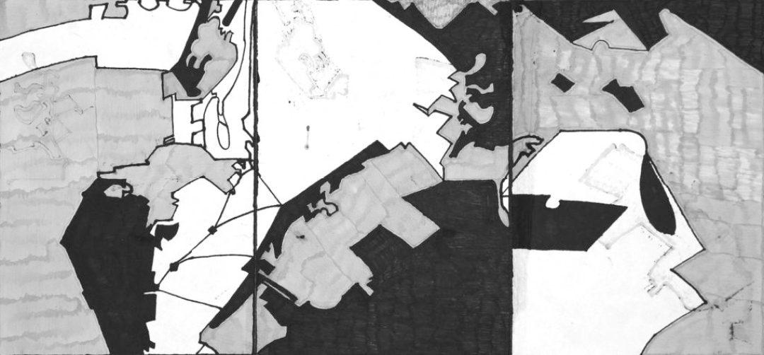 Georges Cauchy, Sans titre, 2003, marqueur sur papier, 29,7 x 63 cm