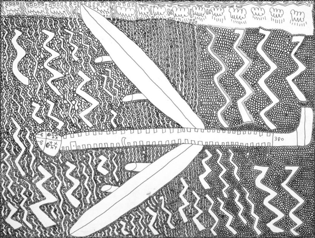 Georges Cauchy, Sans titre, 2009, marqueur sur papier, 55 x 73 cm