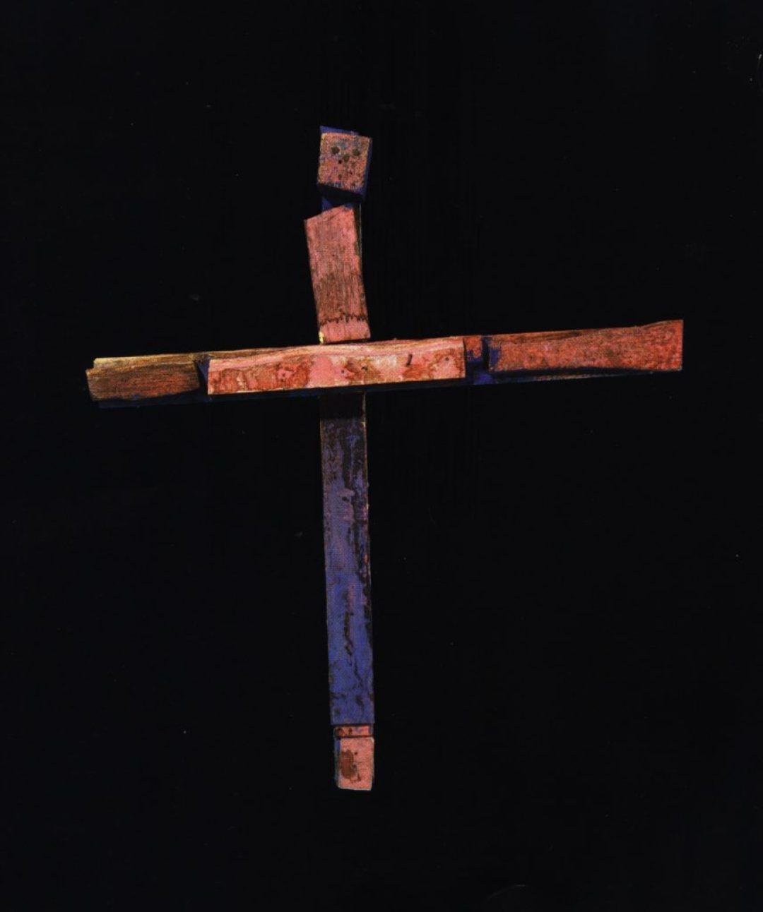 Jean-Pol Godart, sans titre, entre 1994 et 2004, bois, métal et gouache, 87,5 x 78 cm (photo Prodia)