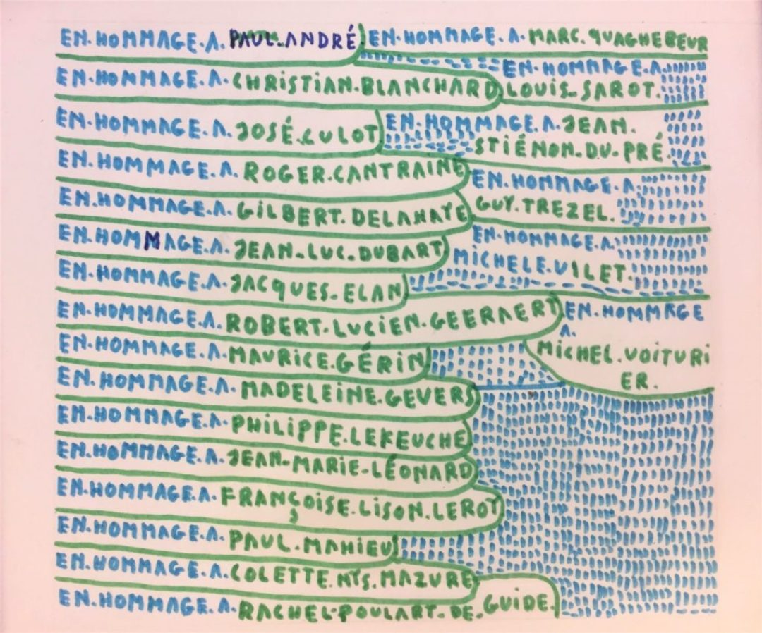 Michel Dave, Sans titre, nd (ca 1999), marqueurs sur papier, 23,5 x 26,5 cm