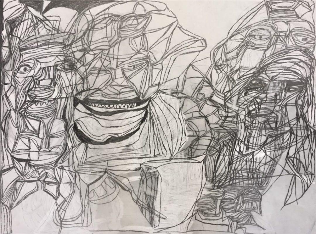 Isabelle Laure, Sans titre, 2016-2017, dessin au crayon sur papier, 55 x 73 cm_1