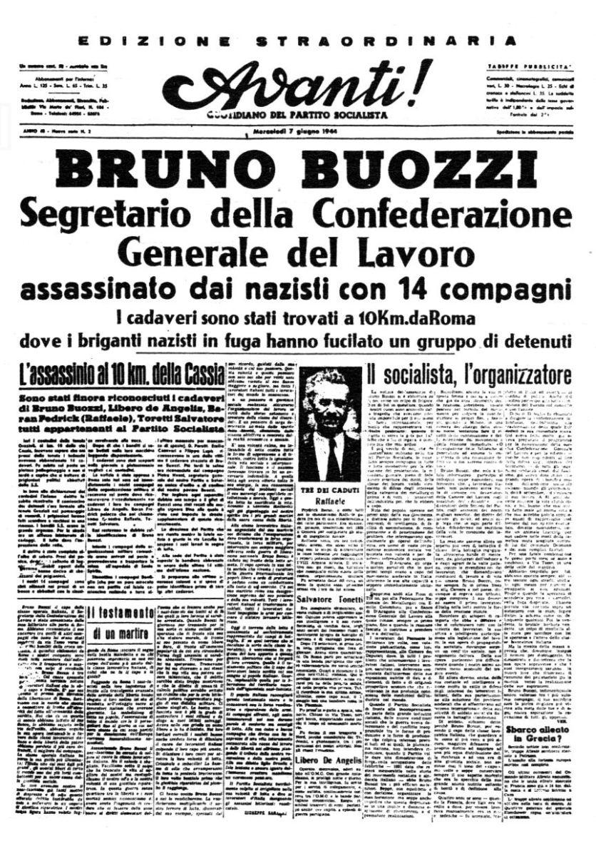 """""""L'ultima notte"""" di Bruno Buozzi"""