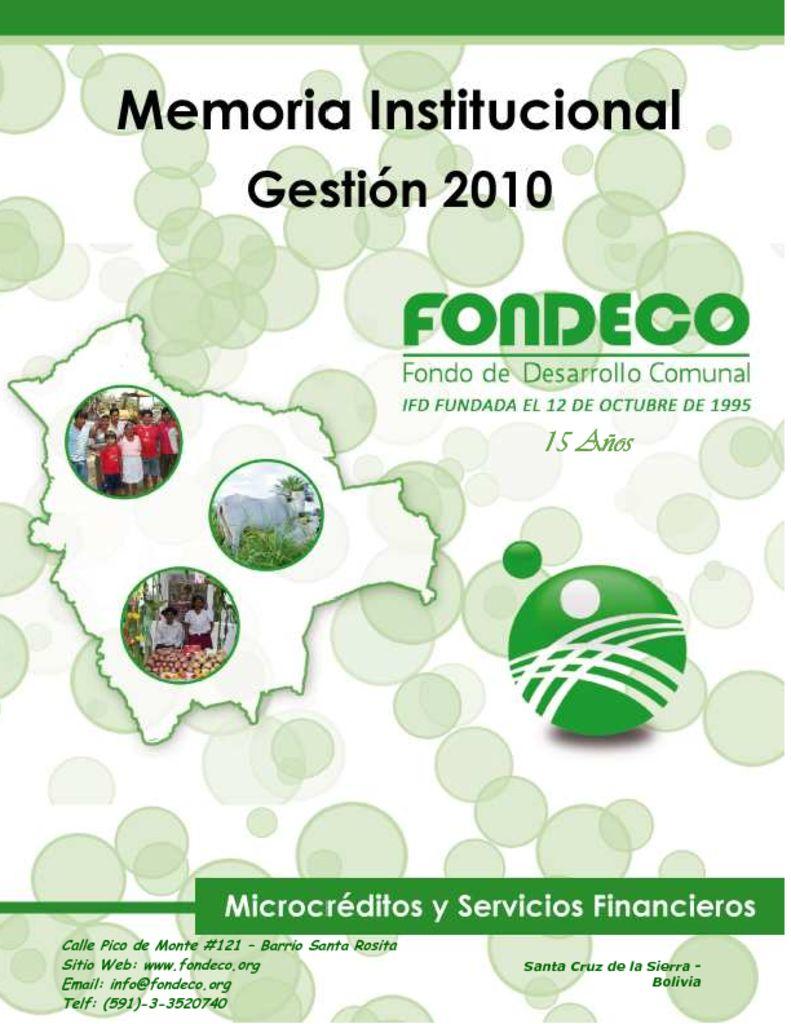 thumbnail of Memoria Institucional 2010