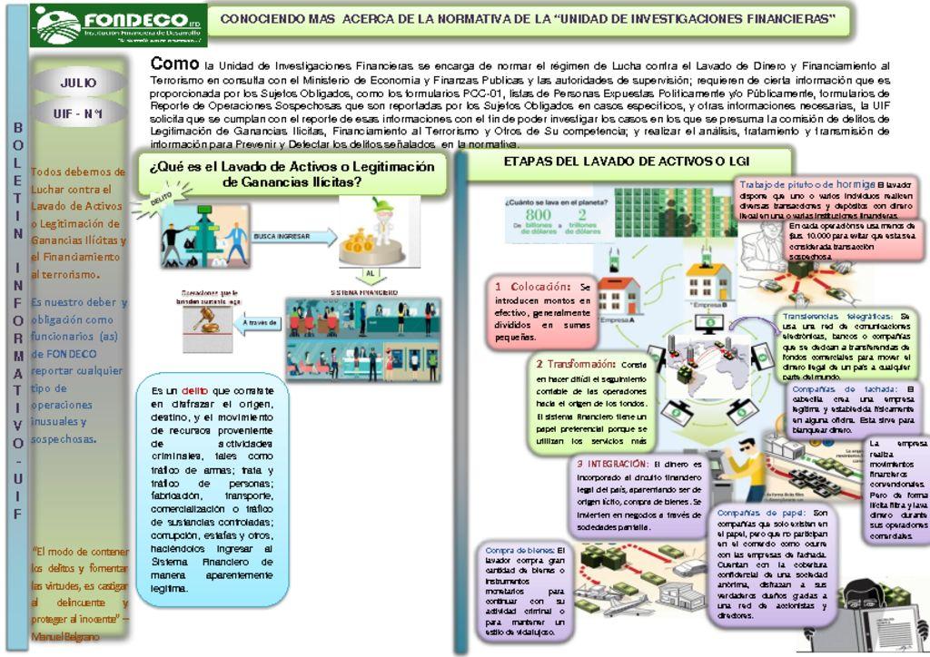 thumbnail of Boletin Informativo UIF N°1
