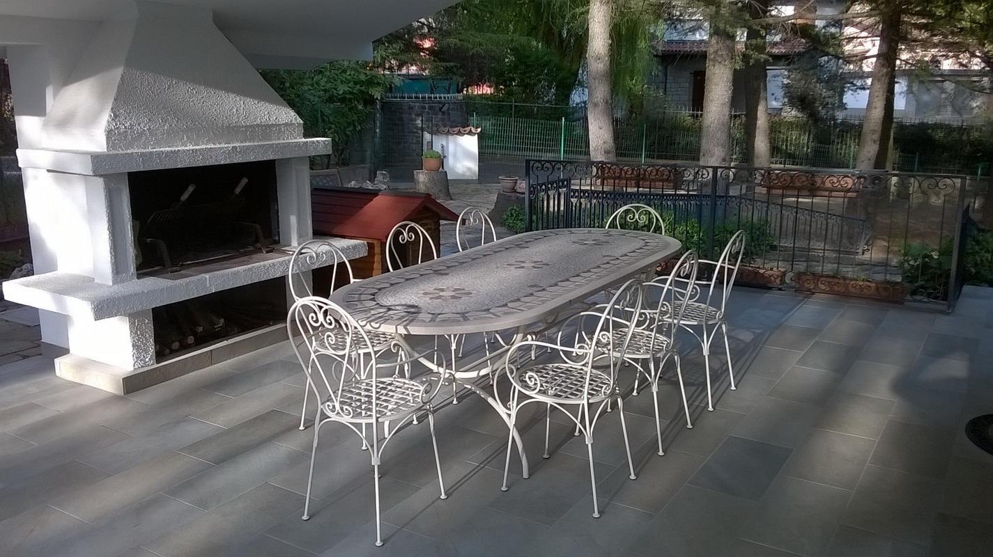 Tavoli Da Giardino In Ferro Battuto E Mosaico.Tavolo Ferro Battuto Ovale Tavolo Ovale In Noce Antico