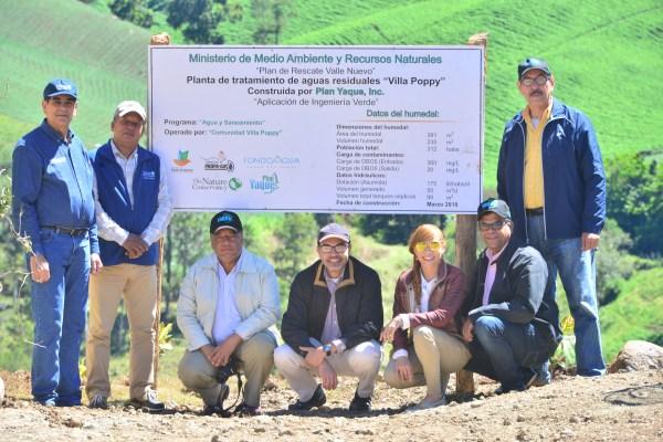 Inauguración  Planta de tratamiento de aguas residuales en la Comunidad de Villa Poppy, Constanza.