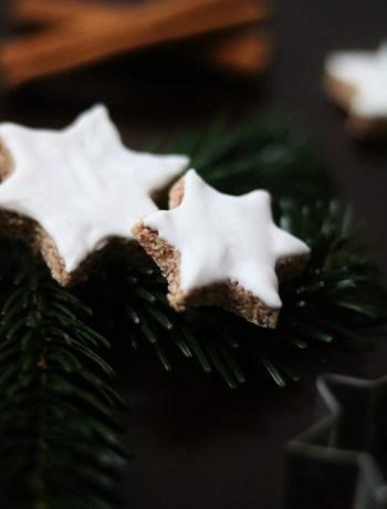 vegan Christmas Cookies Zimtsterne (Cinnamon Stars)