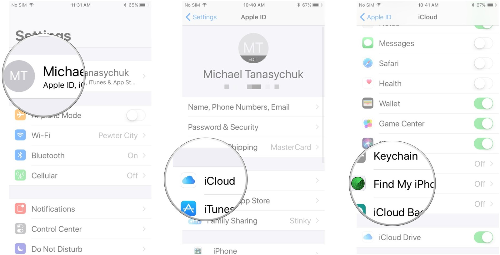 Strategy 2: Following iPhone without the application through iCloud