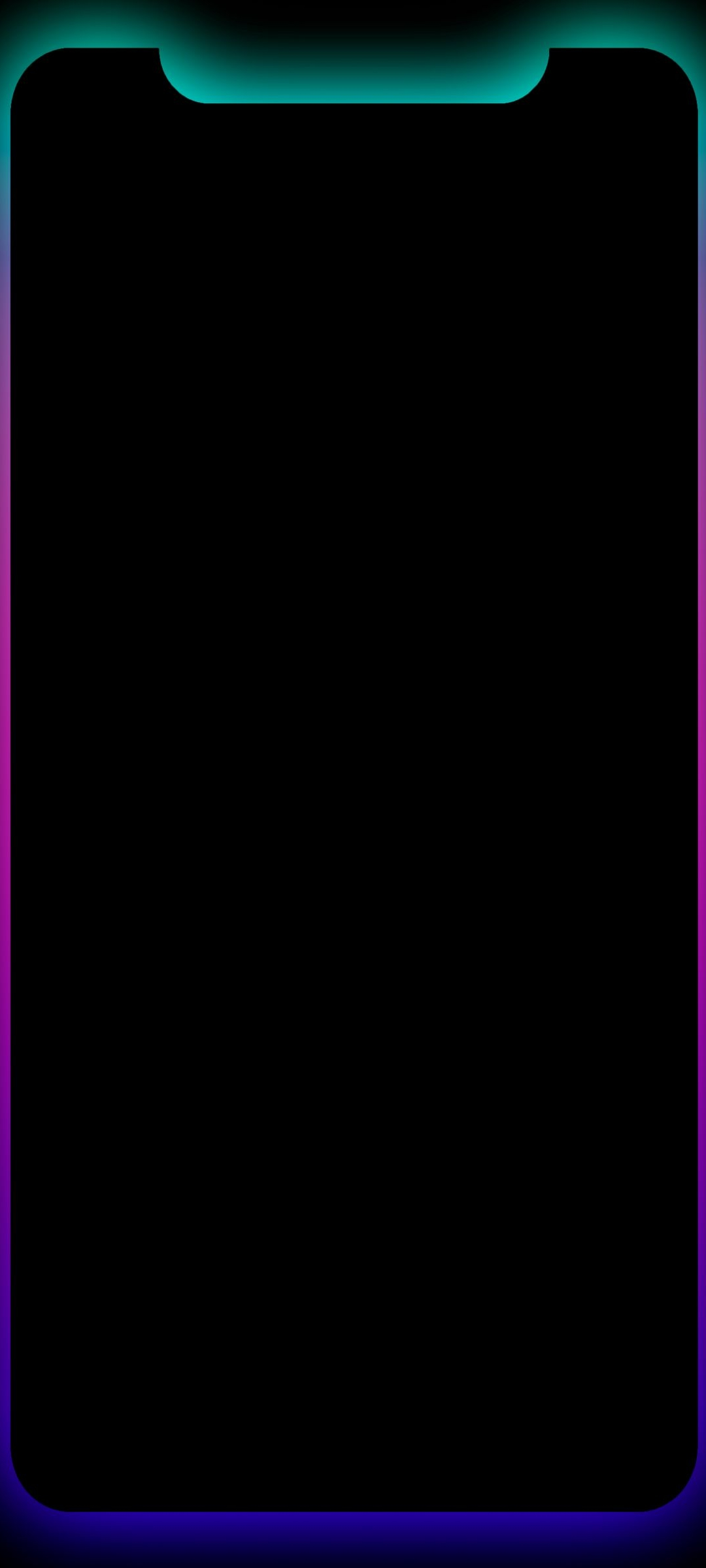 Iphone Notch Wallpaper : iphone, notch, wallpaper, Border, AMOLED, Black, Notch, Wallpaper