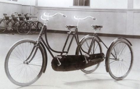 driewieltandem ca. 1905