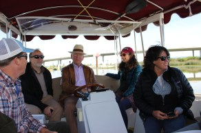 Bernhard gives a river tour