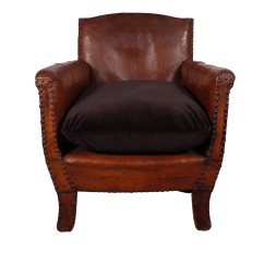 Small Leather Club Chairs Chair Design Bd With Velvet Cushion  Fontaine