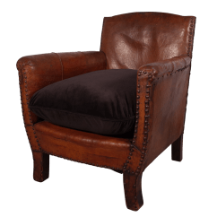 Small Leather Club Chairs Chair Cover Depot Voucher Code With Velvet Cushion  Fontaine