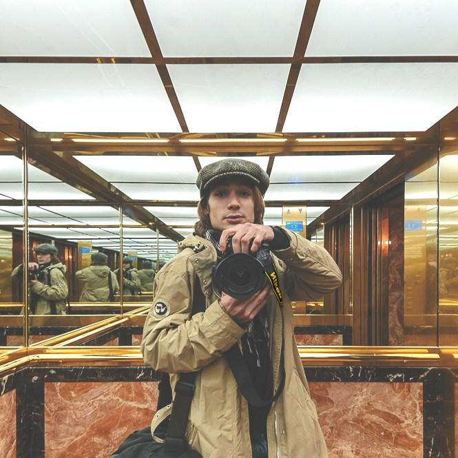 photographie Romain Fontaine Venise autoportrait ascenseur