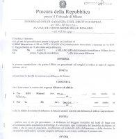 Manuel Ros processato per: insolvenza fraudolenta (con aggravanti il concorso di persone e le aggravanti comuni), falsità in scrittura privata, minaccia grave (con circostanze aggravanti) – 10 Ottobre 2008 – Tribunale di Milano.