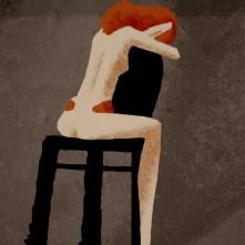 На кресле