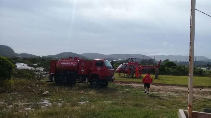Aeronave está no Pórtico de Arraial do Cabo e faz parte doreforço para o verão