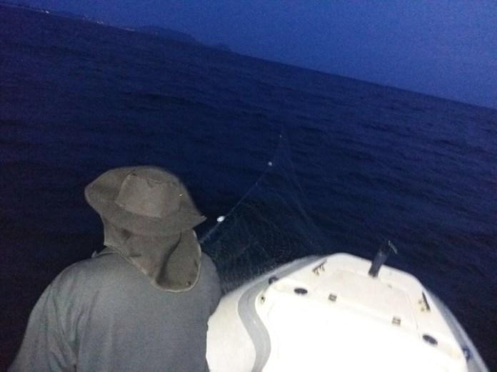 Rede de pesca irregular é apreendida em área de reserva extrativista de Arraial