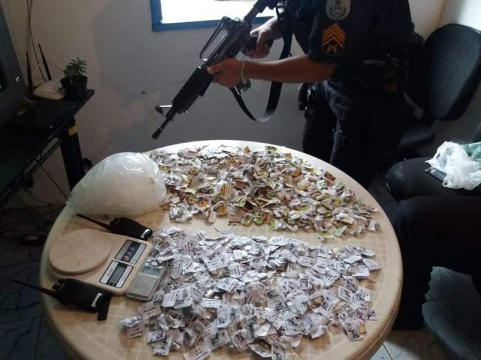 Material Apreendido. Foto: PM/Divulgação
