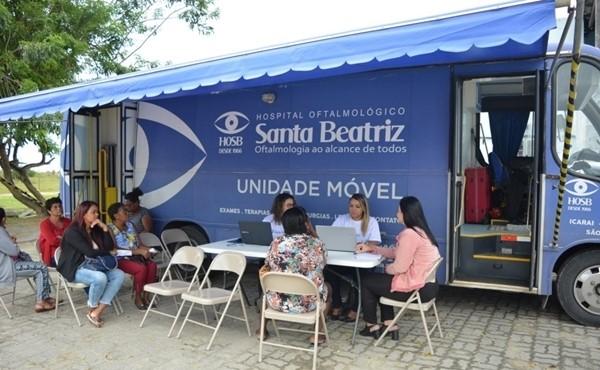 Consultas acontecem em unidade móvel