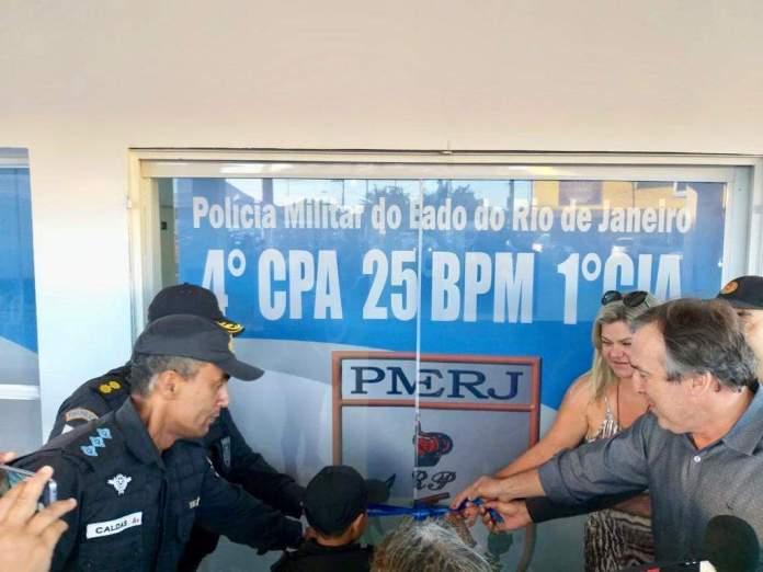 Nessa segunda-feira (10), foi inaugurada a primeira sede da Companhia destacada do 25º Batalhão de Polícia Militar no Jardim Esperança