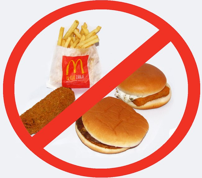 não coma fast food - Produtos naturais para emagrecer e perder a barriga