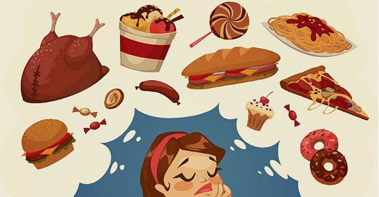 pensar em comida - 7 idéias mentais que o ajudarão a perder peso e dizer adeus aos desejos
