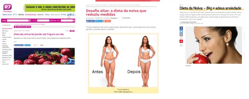 dieta das noivas na midia globo sbt record e revistas como corpo corpo